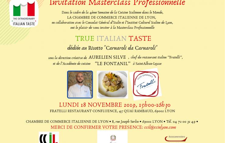 Masterclass professionnelle organisée par la CCI de Lyon