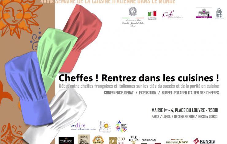 Italie-France : femmes dans la restauration, 9 décembre 2019, Paris