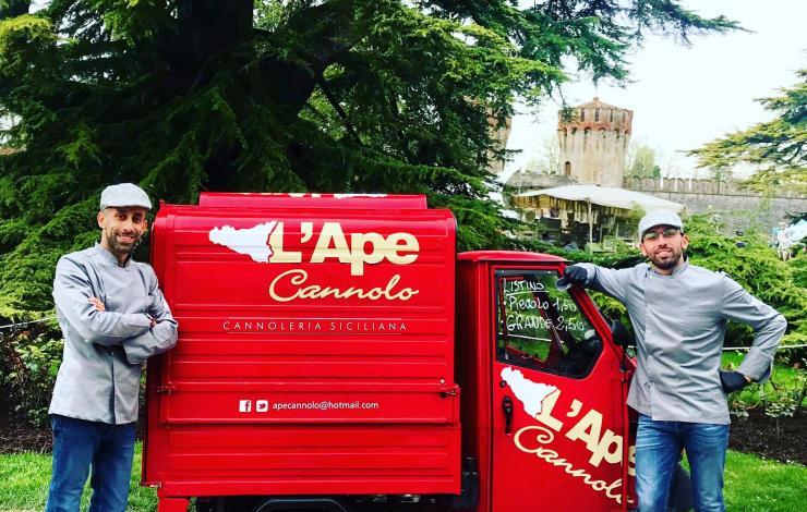 L'Apecannolo : cannoli street food dans le nord de l'Italie