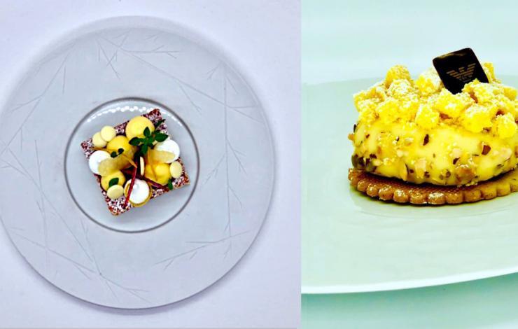 Deux desserts pour célébrer les femmes : la Caprese al limone du Mori Venice Bar & le Mimosa de l'Armani Caffé