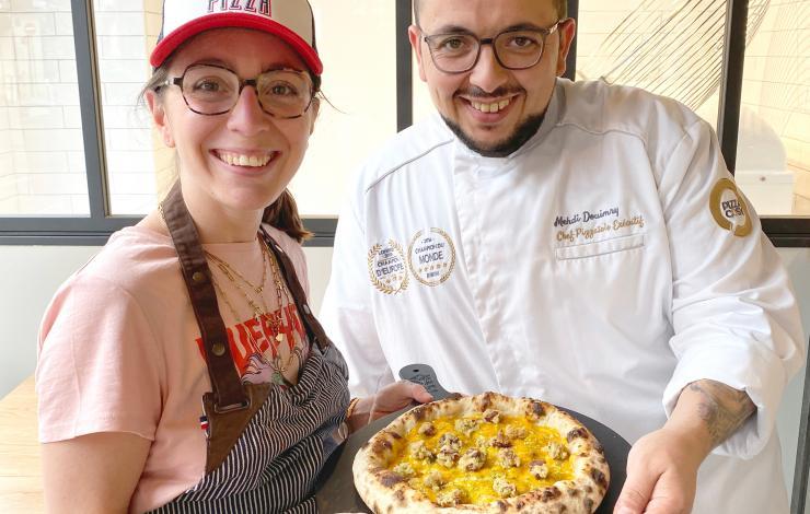 Au menu chez Pizza Cosy la pizza dessert de Elodie Condemi - Le Meilleur Pâtissier