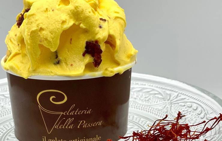 La glace artisanale dédiée à Pellegrino Artusi à La Gelateria della Passera de Florence
