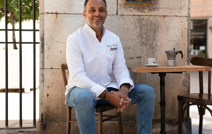 Menus à 4 mains autour du café Segafredo Zanetti chez le chef Marco Casolla à Toulon.