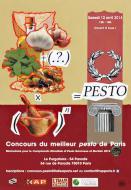 Concours du meilleur pesto de Paris au mortier le 12 avril 2014