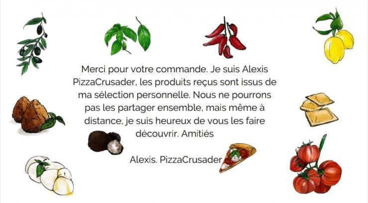 Alexis Pizzacrusader lance son épicerie en ligne