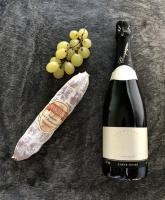 Saucisson champagne, gingembre, champignons par Marchisio