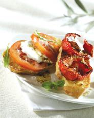 Bruschetta rôties parmesan Tomates de France