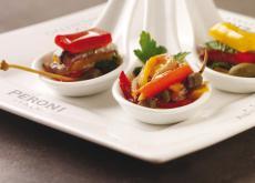 Anchois et poivrons rouges par Giorgio Locatelli