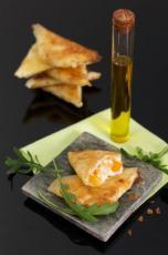 Samoussas chèvre abricot et à l'huile d'olive extra vierge