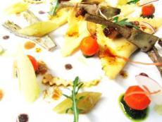 Ravioli de foie gras, artichauts et pecorino par Fabio Merra