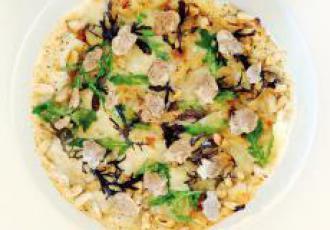 Ma pizza haricots de Castelnaudary et truffes blanches d'Alba