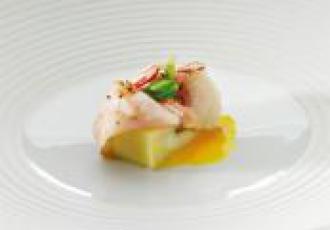 Espadon en marinade d'eau de mer selon Aimo Moroni
