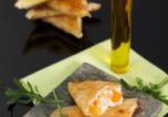 Samoussas chèvre abricot et à l\'huile d\'olive extra vierge