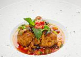 Boulettes d\'agneau, cumin, citron confit et pulpe de tomate Mutti