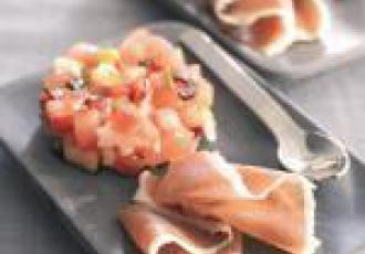 Tartare aux tomates et Serrano Consortio