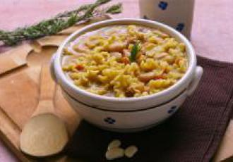 Soupe de haricots tarbais à l'italienne et pâtes