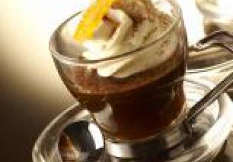 Tremblant de l'orange en Capuccino de Mascarpone, un café revisité
